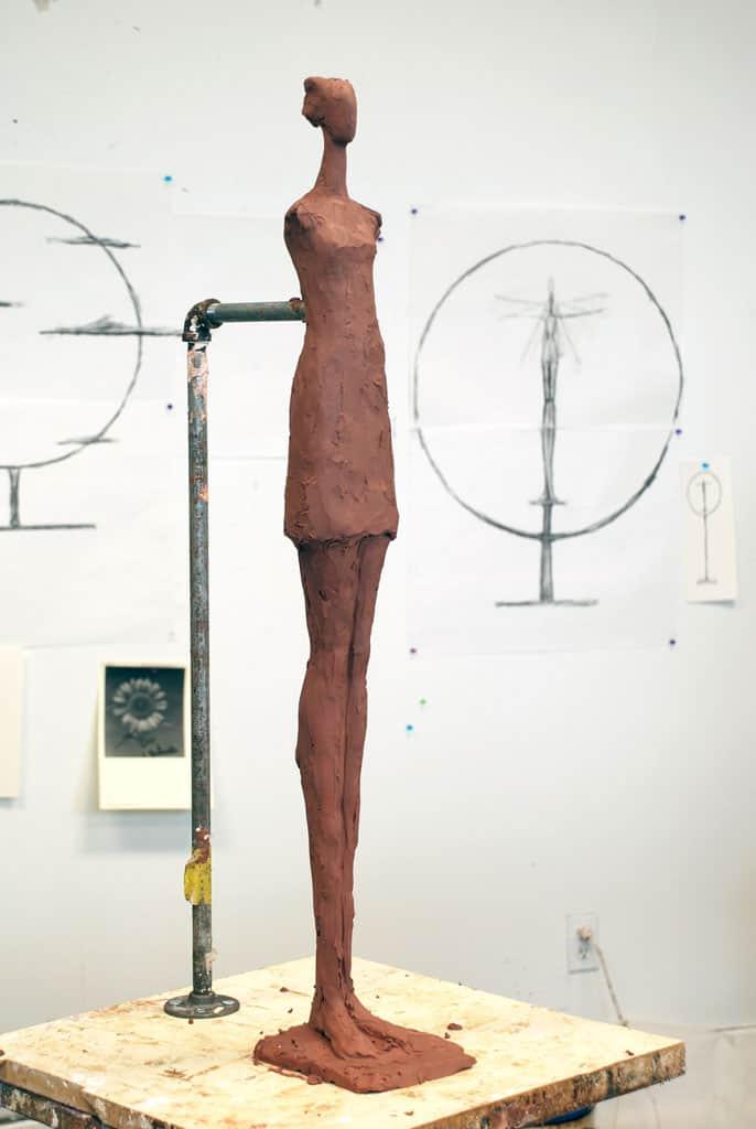 Sculpting Corbin Bronze