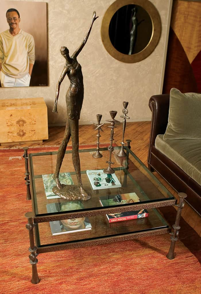 Two Tier Coffee Table, Renee, Totem Candlesticks
