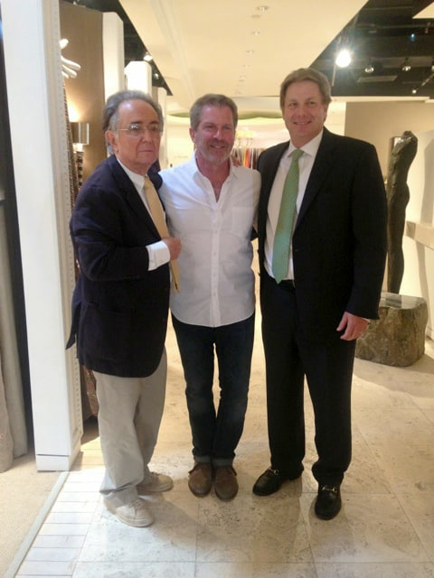 Designer Stan Topol (left), Jerry Pair President Dan Cahoon (right) and that other guy