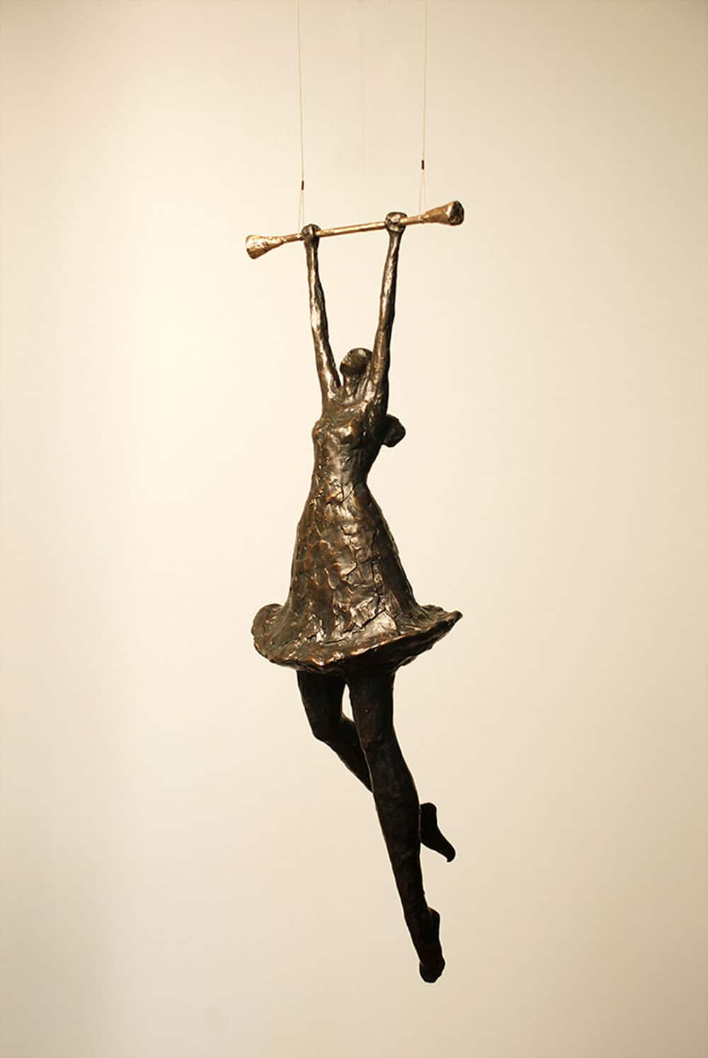 Girl On Trapeze Ii Corbin Bronze