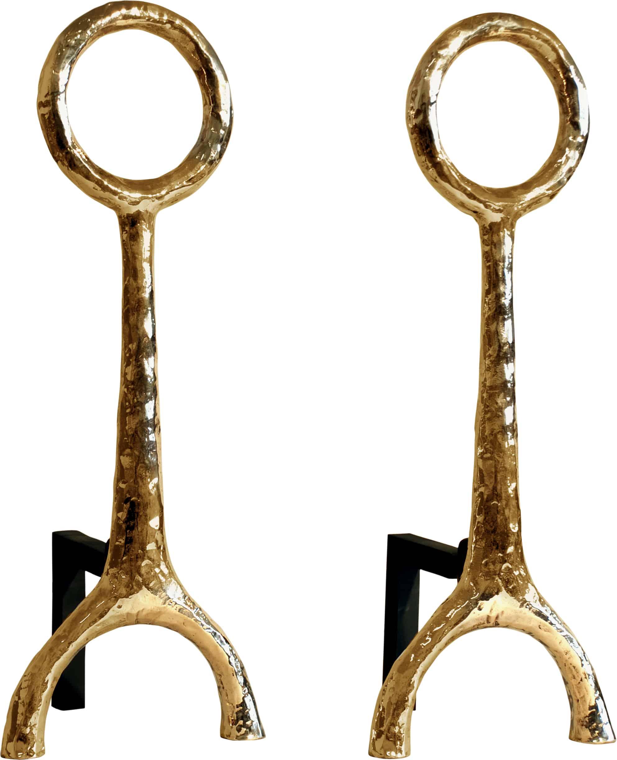 mercury andirons corbin bronze